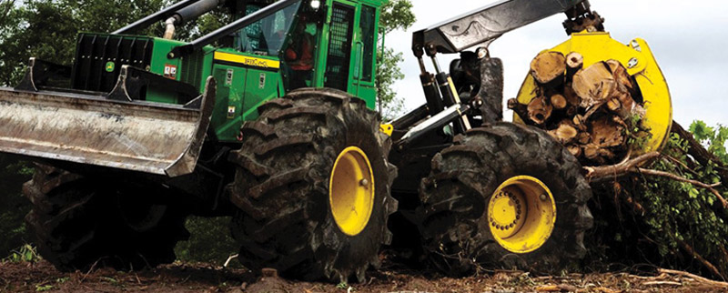 John Deere log skidder